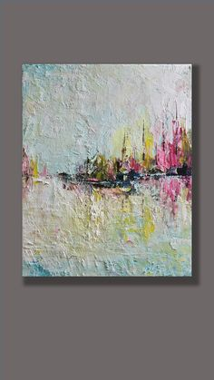 "In the Harbour Modern Contemporary 8""x10"" Wall Decor Wall Art Wall Hangings Home Decor Abstract Art Oil Painting Decorative Arts Landscape"