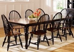 Thinking of Black Windsor chairs to go with my espresso farm table. Hmmmm