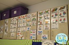 Mrs. Wills Kindergarten - Will be posting my vocabulary cards like this next year!