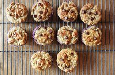 Banana Muffins with Almond Flour, Walnuts + Chocolate: Gluten Free!