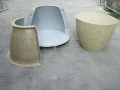 Reusable Furniture Molds for Concrete Planters, Stools, and Tables Unveiled by Buddy Rhodes - The Concrete Network