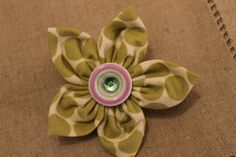 Hand Made Fabric Flower Pin by sewmeamemory on Etsy, $8.00