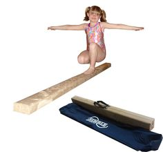 8ft Tan Folding Balance Beam. The beam is 8 feet long, the top is 4 inches wide and 3 inches high. Made with 3/4 laminated wood. The padding is 3/8 closed cell foam. All beams are wrapped with a commercial grade synthetic suede. The Folding beam will fold into a 4ft length for transport or storage. Carrying bag included. Nimble Sports guarantees everything sold with a 1 year warranty.