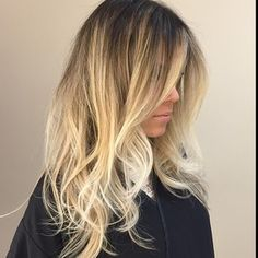 Blonde ombre. I think my roots are too light for this though
