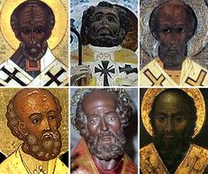 """Saint Nicholas (Nikolaus, Bishop of Myra)  Nicholas, was probably born during the third century in the village of Patara, in what is now the southern coast of Turkey. He was born of very wealthy ethnic black Anatolians of the ancient Roman Empire.  Nicholas' wealthy parents, died in an epidemic while Nicholas was still young. Being a devout Christian, he followed the words of Jesus to """"sell what you own and give the money to the poor."""""""