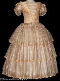 1850s Girl's Dress.