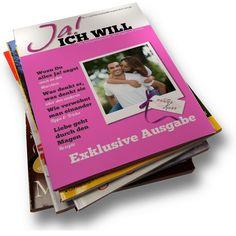 """""""Ja, ich will!"""" ist eine kostenlose Vorlage für eine #Hochzeitszeitung! Einfach anmelden und benutzen ..."""