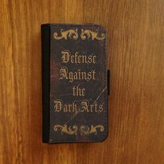 s4 flip case Harry Potter iphone 4 5 or Samsung Galaxy S3 or S4 wallet case book style cover Defense Against the Dark Arts magic handbook on Etsy, $24.00