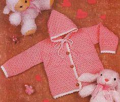 Giacca rosa all'uncinetto con punto facile da lavorare. fonte:http://www.liveinternet.ru/users/3734402/rubric/1455207/