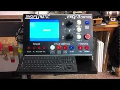 Here is a great combination of a computer built to look like an Industrial Dedicated control panel. Its running XP and and Controls my Warthog CN. Diy Lathe, Diy Cnc Router, Cnc Woodworking, Welding Design, Cnc Software, Cnc Projects, Cnc Plasma, Valspar, Diy Electronics