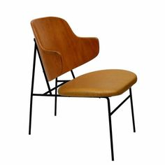 Ib Kofod-Larsen Shell Back Chair | From a unique collection of antique and modern side chairs at https://www.1stdibs.com/furniture/seating/side-chairs/