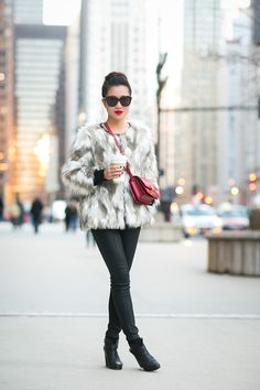 Add a faux fur jacket over your usual layers for instant warmth & style.