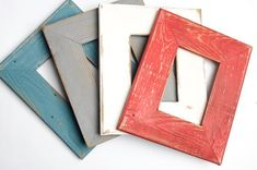 Barn Wood Picture Frames, Picture Frame Crafts, Rustic Mirrors, Rustic Frames, Farmhouse Frames, Farmhouse Wall Decor, Valentine Gifts For Mom, Rustic Pictures, Distressed Frames