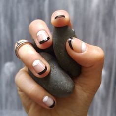 black French manicure maybe?