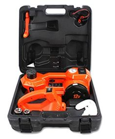 DC 1 Ton Electric Hydraulic Floor Jack Set with Impact Wrench For Car Use 61171 inch Orange ** See this great product. (It is an affiliate link and I receive commission through sales) Roadside Emergency Kit, Best Electric Car, Boys Snow Boots, Safety Valve, Wrench Tool, Tool Kit, Floor, Orange, Boden