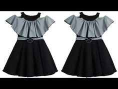 DIY Designer Cape Baby Dress Cutting And Stitching Full Tutorial Baby Frock Pattern, Frock Patterns, Baby Girl Dress Patterns, Baby Clothes Patterns, Bodice Pattern, Baby Girl Frocks, Baby Girl Party Dresses, Frocks For Girls, Dresses Kids Girl