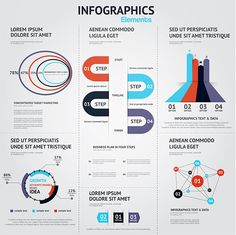 Big Collection of Infographics Elements on Behance