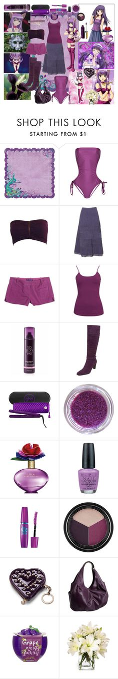"""Super Model Zakuro"" by mccxoxo ❤ liked on Polyvore featuring Mew., Melissa Odabash, EAST, Forever 21, Calla, Victoria's Secret, Blondo, GHD, Marc Jacobs and OPI"