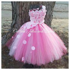 Flower Girl Tutu dress- flower tutu dress- pink tutu dress- pageant tutu dress