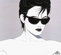 Patrick Nagel : my favorite of all time I OWN this one with the SILVER reflective lenses. @davincigirl1