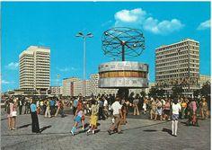 Berlin DDR in den 70ern Weltzeituhr/Alexanderplatz