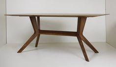 Massivholztisch XAVER von Wittmann #design trifft #handwerk #madeinaustria Solid Wood, Furniture, Design, Home Decor, Pipes, Steel, Home Furnishings, Interior Design, Home Interiors