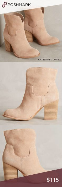 NEW! LEHANNA SUEDE BOOTIES With a laid-back slouchy shaft, these classic heel ankle booties have endless pairing opportunities. + Suede upper  + Pull-on styling + Cushioned footbed  + Leather insole + Synthetic sole + NWOB-Never Worn  Bundle Discount ^ No Trades ^ Make Offers Thur Offer Button ^ Have a question? Please Ask! Anthropologie Shoes Ankle Boots & Booties