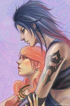 Fang and Vanille. Fan art. Final Fantasy XIII.