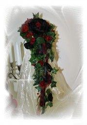 Brautstrauss Gothic Wasserfall lang bei Hochzeitsdekorationen  bestellen
