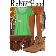 Disney Outfits Inspired By Your Favorite Characters - Robin Hood Disney Character Outfits, Cute Disney Outfits, Disney Themed Outfits, Character Inspired Outfits, Disney Dresses, Cool Outfits, Disney Clothes, Estilo Disney, Disney Inspired Fashion