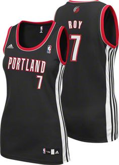 Brandon Roy Black adidas Revolution 30 Replica Portland Trail Blazers Women's Jersey