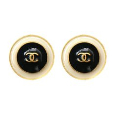 Chanel - Chanel Enamelled Earrings ❤ liked on Polyvore featuring jewelry, earrings, accessories, chanel, dresses, enamel jewelry, chanel earrings, chanel jewellery and chanel jewelry