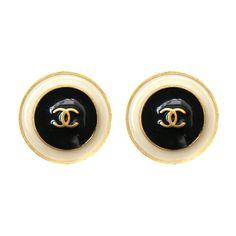 Chanel - Chanel Enamelled Earrings