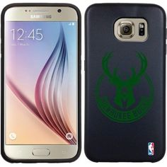 Coveroo Samsung Galaxy S6 Black Guardian Case with Milwaukee Bucks Stamp, Color Design