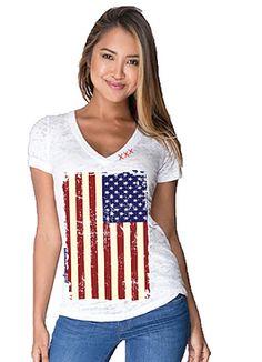 US Flag Shirt - Bohemian Cowgirl