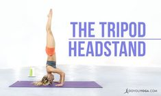 Yoga Pose Breakdown with Kino MacGregor Tripod Headstand Ashtanga Vinyasa Yoga, Bikram Yoga, Yoga Headstand, Photo Yoga, Kino Macgregor, Different Types Of Yoga, Yoga Breathing, Yoga School, Shooting Photo