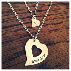 """Mother & Daughter """"Piece of my heart"""" stamped necklace set - $40 www.facebook.com/metalstampinmama"""