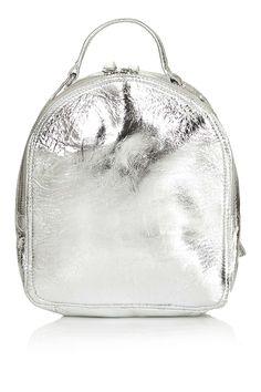 Mini Leather Zip Backpack