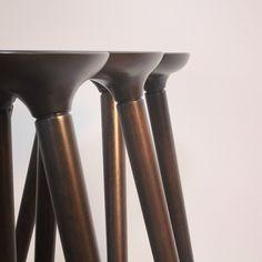 Mmm. Custom, color matched, deep dark walnut stools. #colormatching…