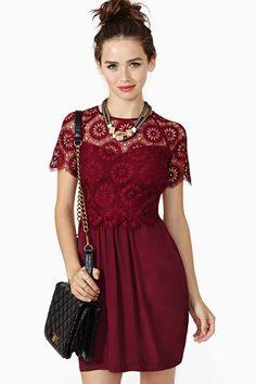 red lace crop top idea