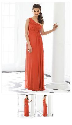 bridesmaid dress orange