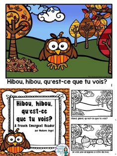 Teach your French students fun fall vocabulary with this cute emergent reader! French Teaching Resources, Teaching French, French Sentences, French Verbs, Teach Yourself French, Core French, French Classroom, French Immersion, Emergent Readers