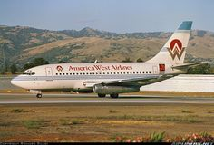 America West Airlines Boeing So many great trips and so many great friends from my LAX days. America West Airlines, Us Airways, Cargo Aircraft, Plane Design, Airplane Art, Commercial Aircraft, Civil Aviation, Aircraft Pictures, Great Friends