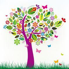 Árbol primaveral - Vector