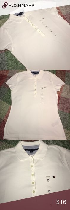 ♦️Tommy Hilfiger Women's Polo Tommy Hilfiger Women's Polo. Classic white, new with tags Tommy Hilfiger Tops