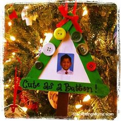 I love Christmas Crafts that include my son's picture. So easy to make and a memory that will last a lifetime!