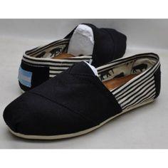 Toms Casual Shoes University Classic Canvas Strip Suede Black Black Canvas Shoes, Black Toms, Cheap Converse Shoes, Vans Shoes, Toms Shoes Outlet, Discount Toms, Womens Toms, Shoes Online, Casual Shoes