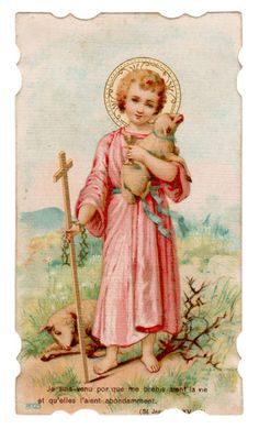 Jesus The Lamb of God Vintage French Die Cut Holy Card | eBay