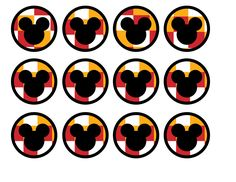 Mickey-Mouse-cupcake-toppers-checkered.jpg (1650×1275)