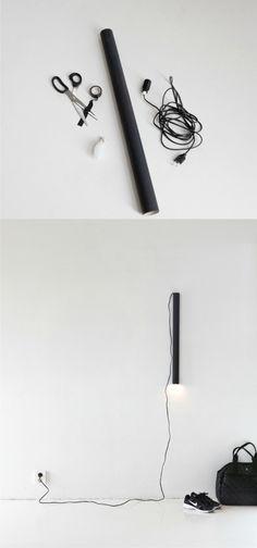 Lampada tubo di cartone fai da te